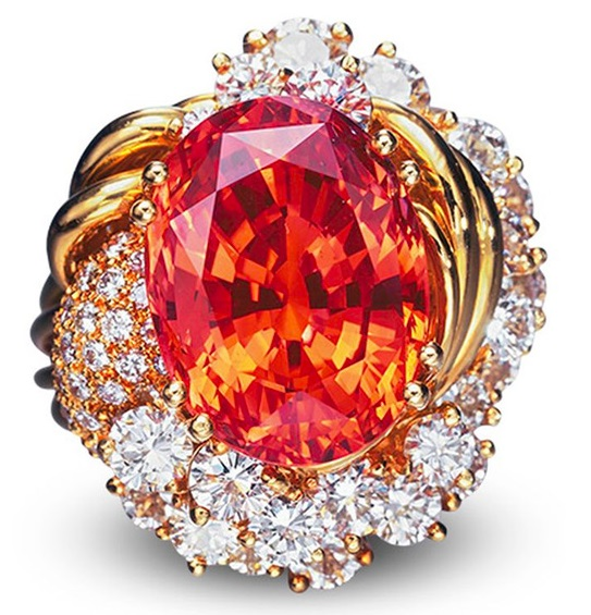 Padparadscha ct. 20.84 Christies's 2005